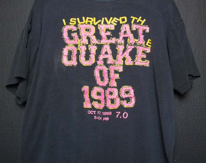 I Survived The Great Quake of 1989 Vintage Tshirt