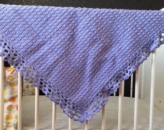 Lilac Crochet Baby Blanket, Crochet Blanket, Crochet Baby Blanket