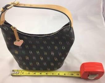 Dooney & Bourke Small Hobo Bag Mulit Signature Bag