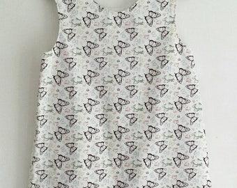 Girls A-line Shift Dress. Butterfly Dress. Cotton Dress. 6-7 years. Summer Dress. Day Dress.