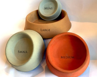 Large Concrete Pet Bowls