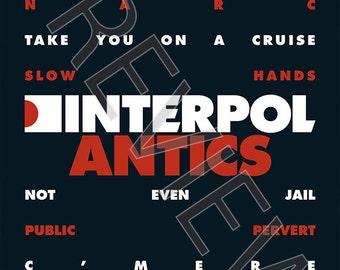 Tshirt - Interpol: 'Antics' (2004)