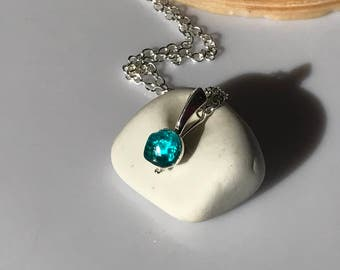 Turquoise Seaham Pendant and chain