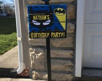 New Superhero Batman Yard Sign