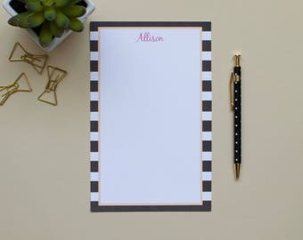 Personalized Striped Name Notepad