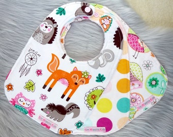 Baby Bibs Set of 3, or Single Bib, Baby Girl Gift, Baby Shower Gift, New Mums - Mixed