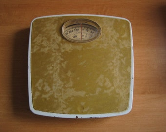 Vintage scale postal code for shipping / Bathroom Scale zip for shipping