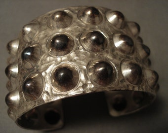Com Pletely Hand Wrought Navajo 'Silver Spike' Bracelet