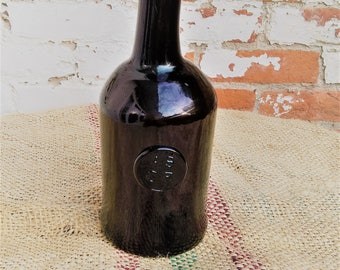 Antique Glass Wine Bottle with seal