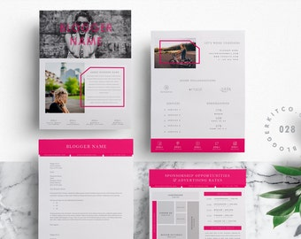 4 PG Media Kit Template | Press Kit Template + Proposal Letter + Ad Rate