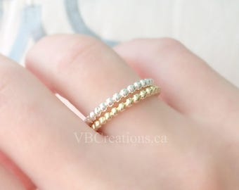 Little Bubble Ring - Bubble Ring - Round - Silver Ring - Dainty Ring - Gold Ring - Bubble Jewelry - Minimalist - Best Friend Gift - Original