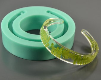 "Bangle Silicone mold, bracelet mould for epoxy resin and polymer clay, 71 x 71 x 15 mm (inside dimension 60 mm) (2.8"" x 0.15"" x 2.36"")"
