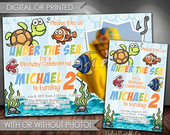 Under the Sea Birthday Invitation, Sea Animals Birthday Invitation, Ocean Birthday Invitation, Boy Party, Invite, Digital, Printed #657