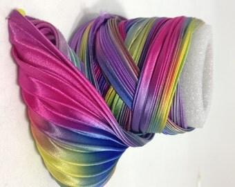 Silk ribbon Shibori N 42  Free delivery from  50 dollar...