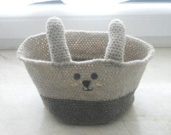 Easter basket - Easter basket - Easter Bunny - crochet basket - accessories - handmade