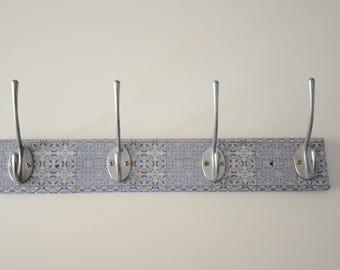 Wall hanger moroccan tile design design / Coat Rack / Coat Hook / Wall Coat Rack / Coat Hooks /  Wood Coat Rack