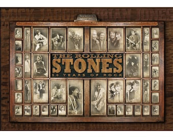 The Rolling Stones 50 Years of Rock and Roll. Limited Edition Print (unframed)