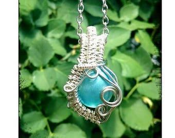 Blue orb pendant