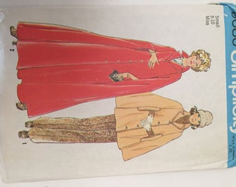 1950's SIMPLICITY PATTERN #6680 Cape in 2 Lengths Uncut Sz 8-10 Small