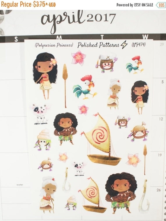 Disney Moana Year Planner Stickers
