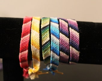 Ombre Striped Woven Friendship Bracelet