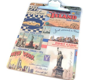 Decorative Clipboard, New York City, Postcards, Travel Theme, Office Decor, Teacher Gift, Vintage Style, Office Organization, Dorm Decor