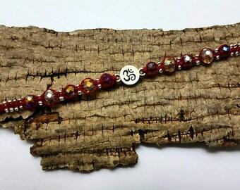 Macrame Om Adjustable Bracelet