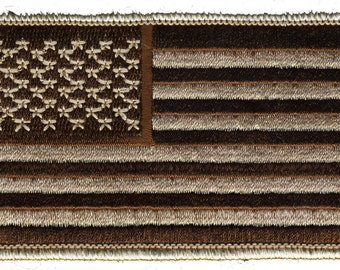 American Flag Desert Camo Iron On Patch 3x2 inch Free Shipping Military Veteran Biker Patriotic Iron On Patch 001