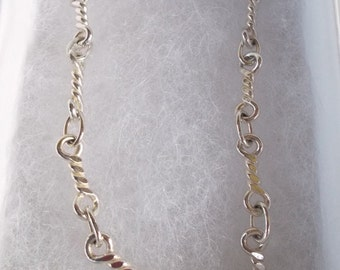Womens Girls .925 Sterling Silver Chain 7.5 inch Bracelet