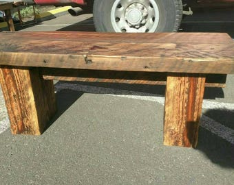 Rustic, Reclaimed Timber Bench