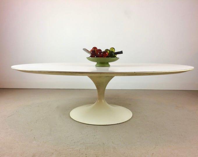 Mid Century Modern Tulip Coffee Table Marked Saarinen for Knoll