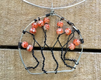 Silver Tree of Life Choker necklace