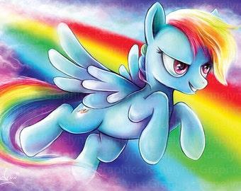 Rainbow Dash My Little Pony Glossy Poster Print - Free USA Shipping