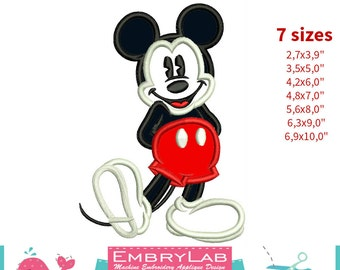 Applique Mickey Mouse. Machine Embroidery Applique Design. Instant Digital Download (16305)