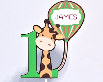 Jungle Centerpiece, Jungle Birthday Party Decoration, Giraffe Party Supplies, Jungle Birthday Decor, Name Jungle Centerpiece, Safari Party