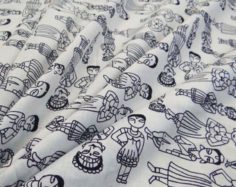 Apparel Fabric Material Cotton Fabric For Sewing Designer White 100% cotton sewing fabric tribal printing for decoration by the yard ZBC6463