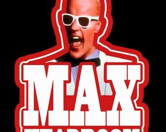 80's TV Classic Max Headroom custom tee Any Size Any Color