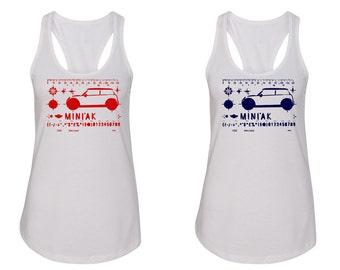 MINI 'ac stencil Ladies tank/MINI CooperLadies style tank top/MINI 'ac t-shirt