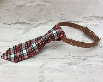 Dog Necktie , Dog Tie, Pet Accessories, Tartan Dog Tie, Pet Collar Tie