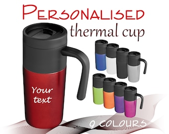 Personalised travel thermal cup 350 ml *** 1/2/3/4/5 cups *** UK Gift. ** free UK delivery