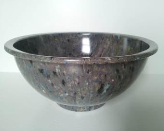 Gorgeous Texas Ware old style vintage genuine melamine confetti splatter mixing bowl 118 E3 gray