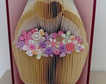 Flower Basket Book Folding Pattern (measure mark and fold)