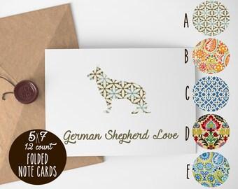 German Shepherd Note Cards