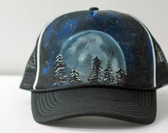 Tree x Moon// Trucker Hat// Custom Hat