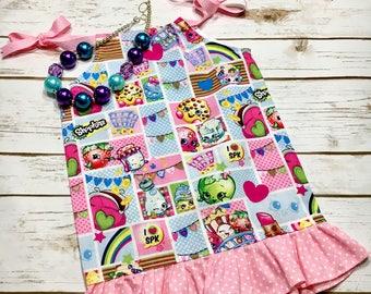 Shopkins -Pillow Case Dress Baby Girl - Birthday Dress Girl - summer dress  - Toddler Girl Dress