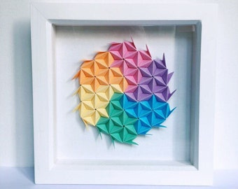 Origami Wall Art, Modular Origami Art, 3D Origami Wall Art, 3D Paper Wall Art, Geometric Paper Art, Colourful Paper Wall Art, Origami Art