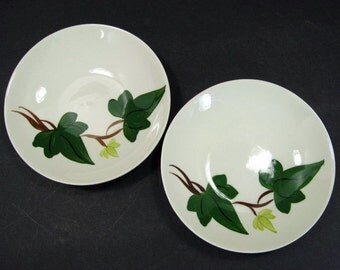 Blue Ridge Southern Pottery Baltic Ivy Dessert 2 Berry Bowl 5.5in x 1in Set A