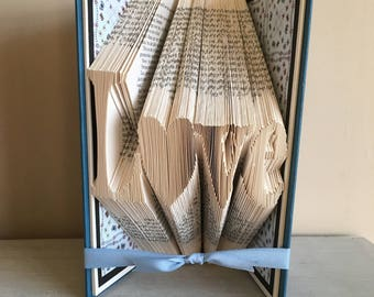 Love Folded Book Art - Unique Wedding Gift - Paper Anniversary Gift - Engagement - Special Couple - Boyfriend -Girlfriend - Husband - Wife