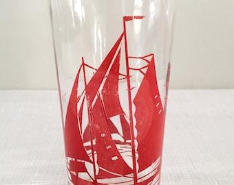 Vintage Sailboat Glass