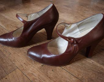 Pair of vintage france 1950's Pin Up retro 36 glamorous shoes / / Vintage heels shoes UK 3.5 US 5 1950 french retro pinup